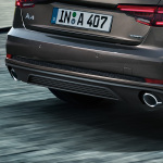 Rear diffuser, for vehicles with single tailpipe on the left and right, matt black