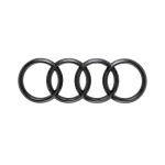 Audi rings, rear, black