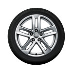 Complete winter wheel in 5-parallel-spoke design, brilliant silver, 7 J x 17, 225/50 R17 94H XL