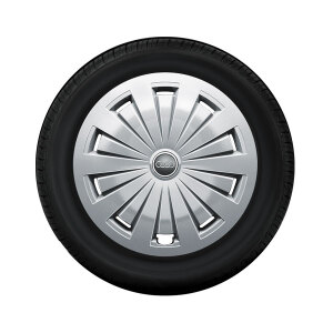 Complete winter wheel with full wheel cover, forged, brilliant silver, 7 J x 16, 205/60 R16 92H, right