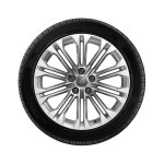 Complete winter wheel in 10-parallel-spoke design, brilliant silver, 8 J x 18, 245/40 R18 97V XL, right