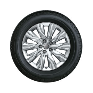 Wheel, 10-arm gravis, brilliant silver, 7.5Jx18, winter tyre 225/45 R18 95H XL, right