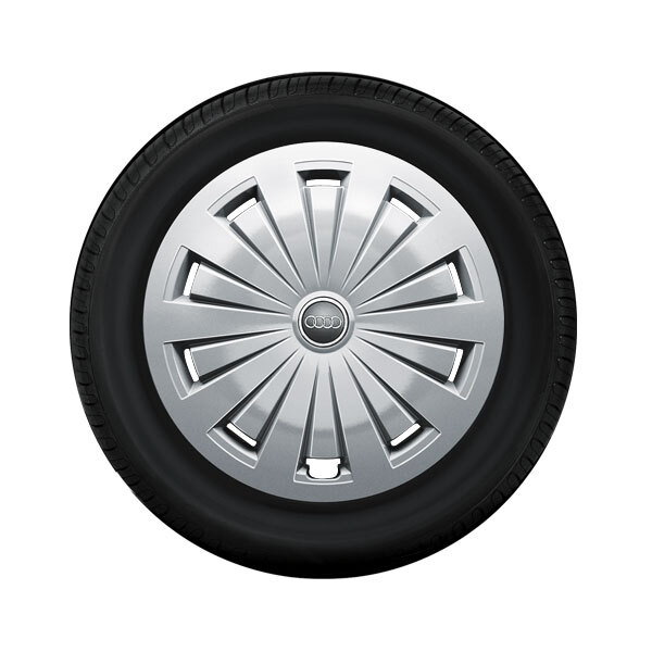 Complete winter wheel with full wheel cover, forged, brilliant silver, 7 J x 16, 205/60 R16 92H, left