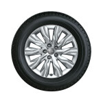 Complete winter wheel in 10-arm gravis design, brilliant silver, 7.5 J x 18, 225/45 R18 95H XL, left
