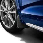 Mud flaps, for the front, for vehicles with or without S line exterior package