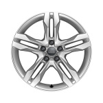 Cast aluminium winter wheel in 5-twin-spoke dynamic  design, brilliant silver, 7.5 J x 18