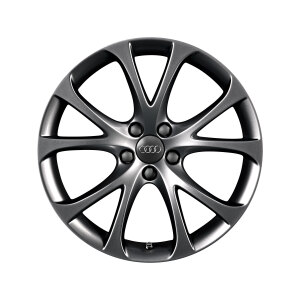 Cast aluminium wheel in 5-V-spoke design, dark-gloss finish, 7.5 J x 17