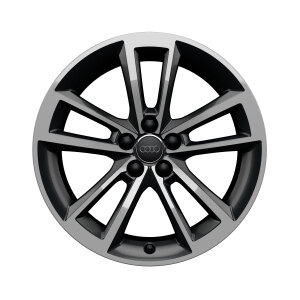 Rim, 5-arm cavo, anthracite, high-gloss turned finish, 7.5Jx17