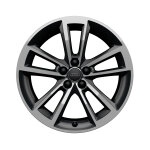 Cast aluminium wheel in 5-arm cavo design, anthracite, high-gloss turned finish, 7.5 J x 17