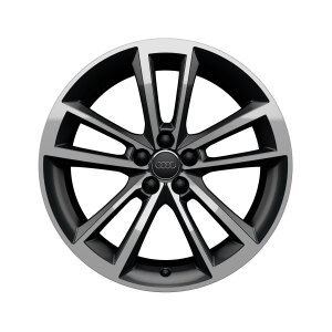 Rim, 5-arm cavo, anthracite, high-gloss turned finish, 7.5Jx18