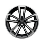 Cast aluminium wheel in 5-arm cavo design, anthracite, high-gloss turned finish 7.5 J x 18