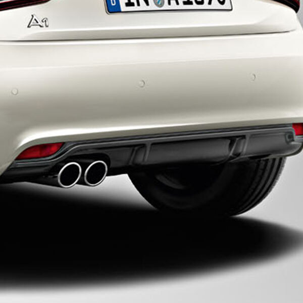competition kit aerodynamics rear diffuser, for vehicles with a twin tailpipe, primed