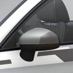 competition kit R18 grey decorative trims for the exterior mirror housings, ice silver, metallic/daytona grey, pearl effect