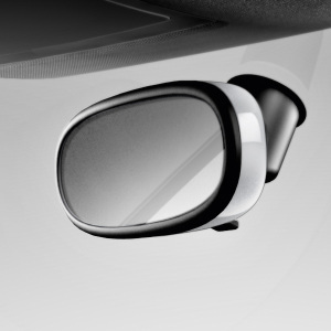 Decorative trim for the interior mirror, automatic anti-dazzle, glacier white, metallic