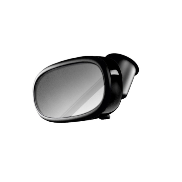 Decorative trim for the interior mirror, manual anti-dazzle, brilliant black