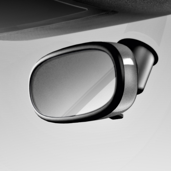 Decorative trim for the interior mirror, manual anti-dazzle, daytona grey, pearl effect