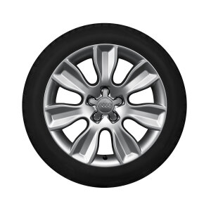 Complete winter wheel in 7-arm dynamic design, brilliant silver, 6 J x 16, 195/50 R16 88H XL, right