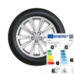 Complete winter wheel in 5-V-spoke design, brilliant silver, 7.5 J x 17, 215/40 R17 87V XL, right