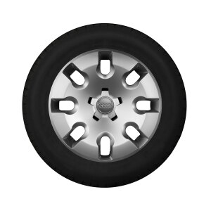 Complete steel winter wheel with full wheel cover, brilliant silver, 6 J x 15, 185/60 R15 88H XL, left