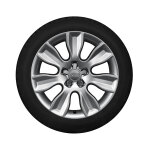 Winterkomplettrad im 7-Arm-Dynamik-Design, brillantsilber, 6 J x 16, 195/50 R 16 88H XL, links