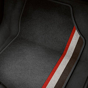 competition kit legends decorative textile floor mats, for the front and rear