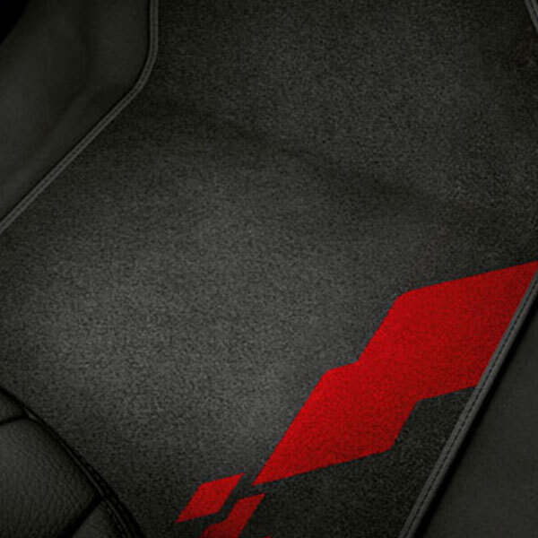 competition kit eleven decorative textile floor mats, for the front and rear
