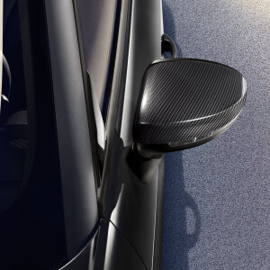Exterior mirror housings, in carbon