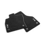 Premium textile floor mats, for the front, black/steel grey