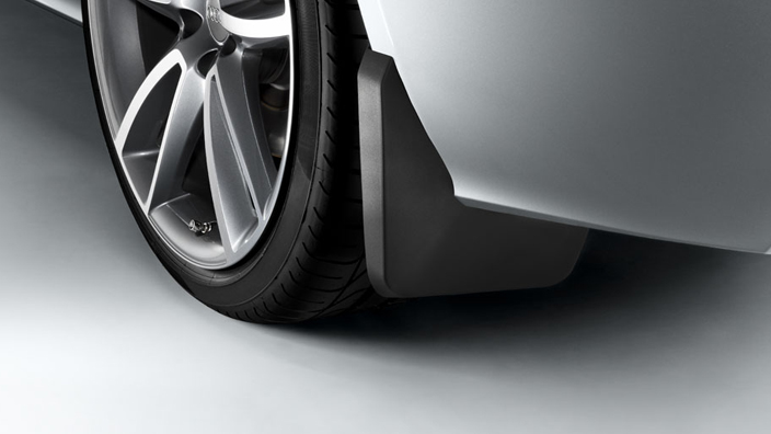Mud flaps, for the rear, for vehicles without S line exteriour package