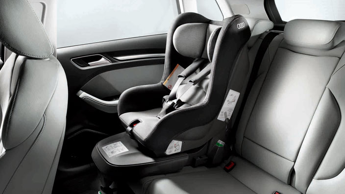 Audi child seat, titanium grey/black