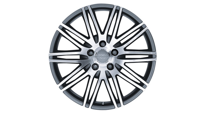 Cast aluminium wheel in 10-twin-spoke design, anthracite-silver, 9 J x 20