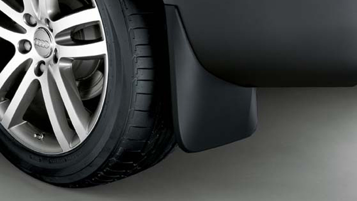 Mud flaps, for the front, for vehicles without offroad style package