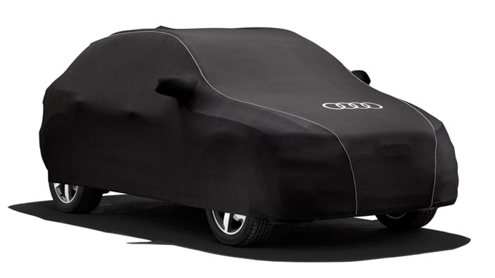 Car cover (indoor), with Audi rings