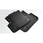Rubber floor mats, for the rear, black