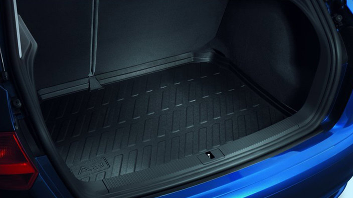 Luggage compartment shell, for vehicles with quattro drive