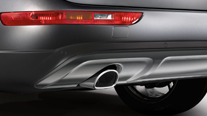offroad style package, rear bumper, for vehicles with a single tailpipe and without the parking system plus, stone grey