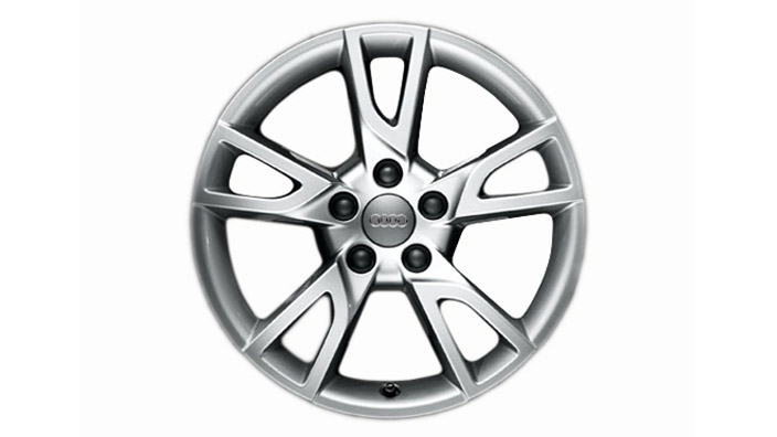 Cast aluminium winter wheel in 5-arm semi-Y design, brilliant silver, 6.5 J x 17