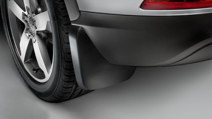 Mud flaps, for the front, for vehicles with and without S line exteriour package