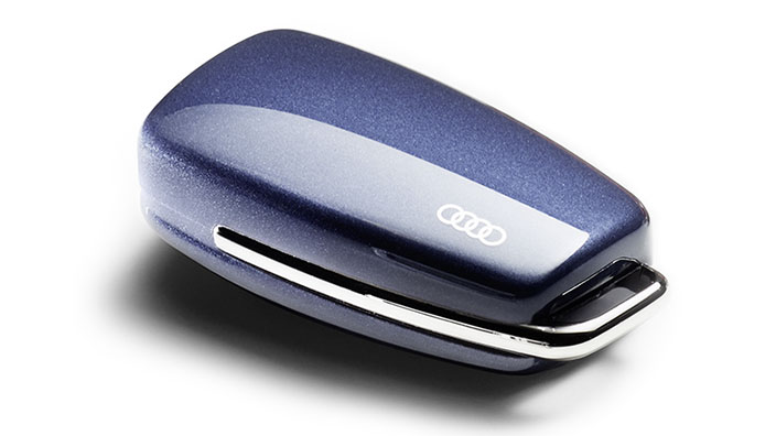 Key cover with Audi rings, utopia blue