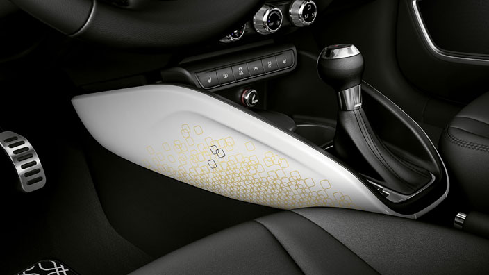 lifestyle kit gold decorative trims for the centre console, ibis white with decor