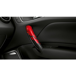 competition kit eleven decorative trims for the centre console, red/black, for the front