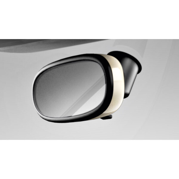 Decorative trim for the interior mirror, manual anti-dazzle, amalfi white