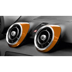 Decorative trims for the air vents, samoa orange, metallic